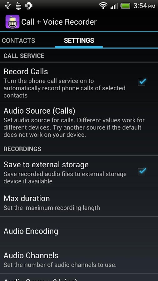 Call + Voice Recorder Free - screenshot