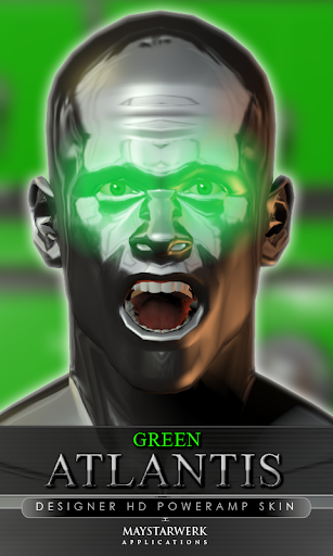 poweramp skin green atlantis