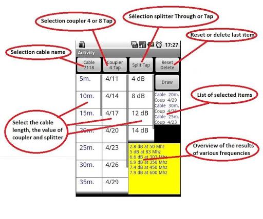 CATV Cable calculator