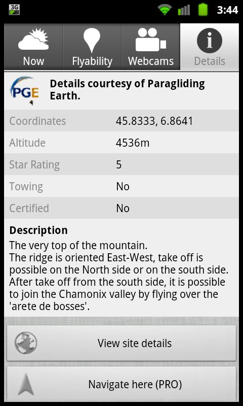 Paragliding Map (PRO) - screenshot