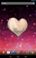 Screenshot of 3D Glitter Heart LWP