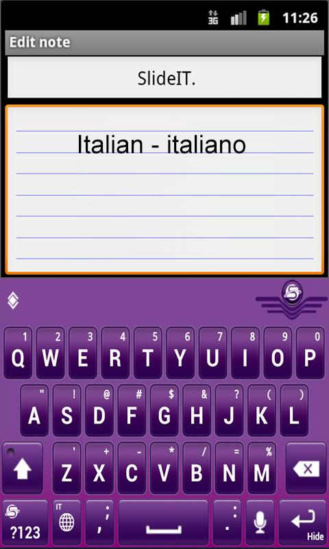 SlideIT Italian Pack- screenshot