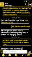 Screenshot of GO SMS Pro Theme - Yellow Neon