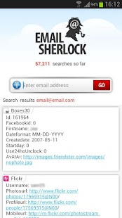 Email Search by EmailSherlock - screenshot thumbnail