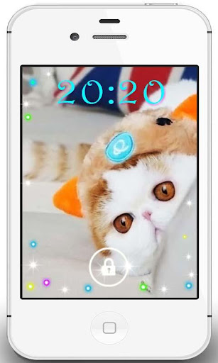 White Cat Snuppy livewallpaper