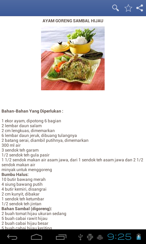 Resep Ayam Goreng Android Apps On Google Play