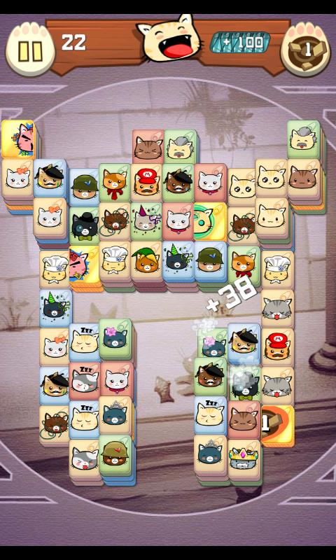 Hungry Cat Mahjong - screenshot