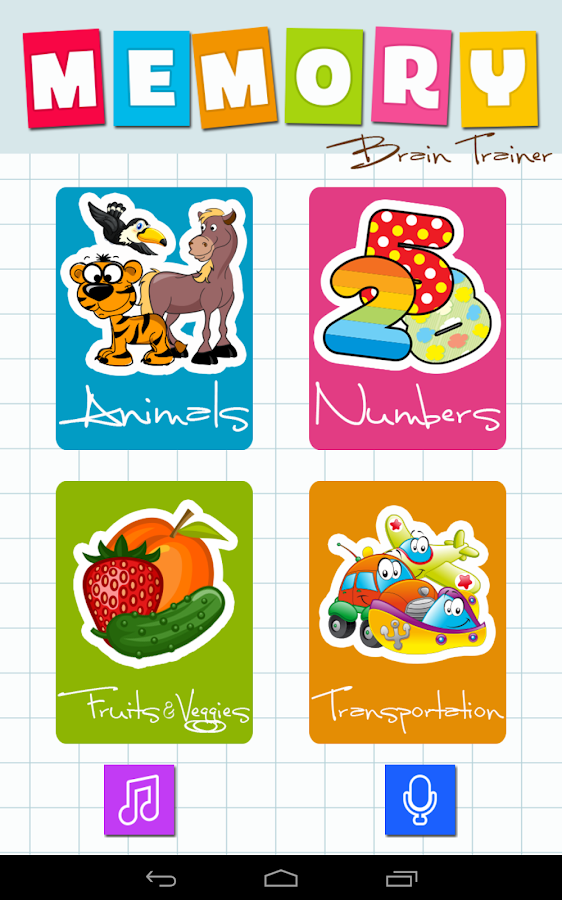 Memory Game: Animals, Fruits, Cars & Numbers- screenshot