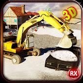 Excavator Snow Plow Simulator