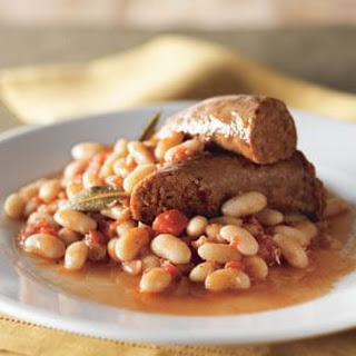 Italian Sausage and Cannellini Beans in Herbed Tomato Sauce
