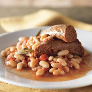 Italian Sausage and Cannellini Beans in Herbed Tomato Sauce.