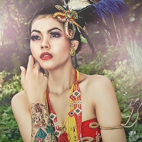 Bohemian girl by IDewa ZesmaerthaPrabawatma - Digital Art People