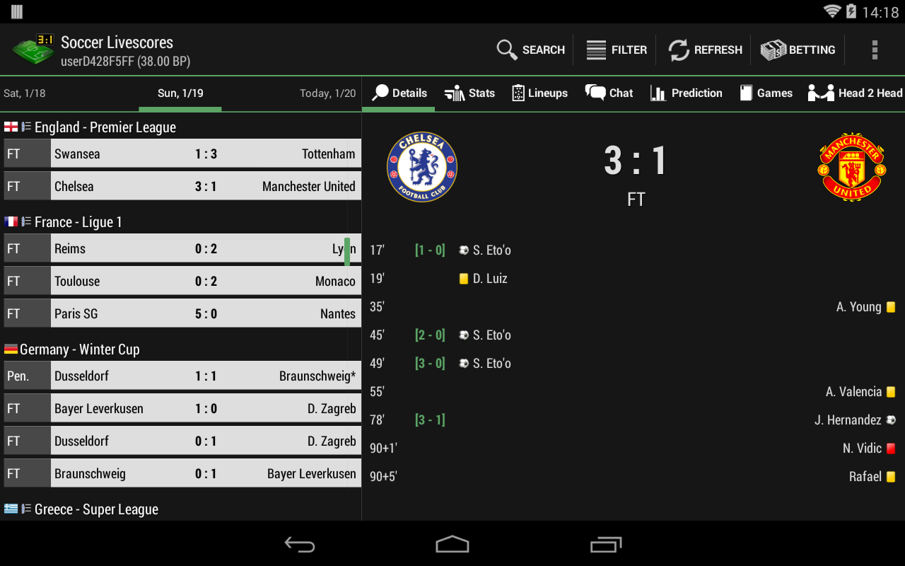 Soccer / Football Live Scores - screenshot