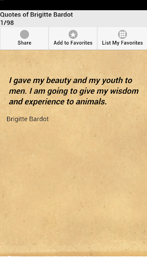 Quotes of Brigitte Bardot