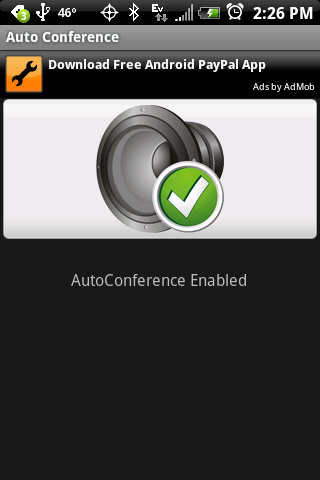 AutoConference - screenshot