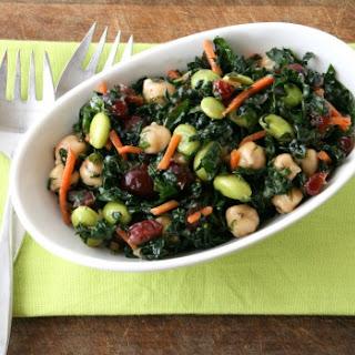 Kale, Cranberry, Chickpea, Edamame Salad (aka Better than Trader Joe's Kale Salad).
