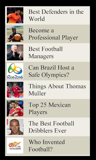 Football Lists Soccer