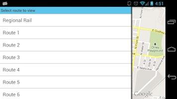 Screenshot of SeptaDroid