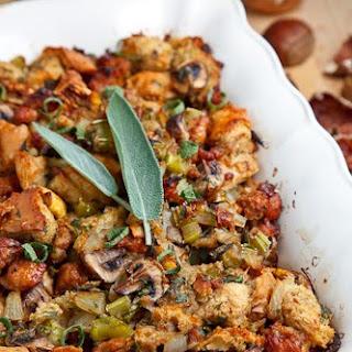 Italian Sausage, Mushroom and Chestnut Stuffing.