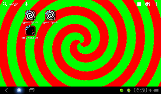 Hypnotic Spiral Live Wallpaper- screenshot thumbnail