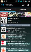 Screenshot of Followers.