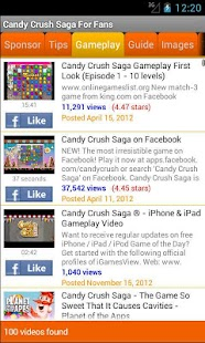 Candy Crush Saga For Fans - screenshot thumbnail