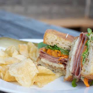 Ham and Sweet Potato Sandwich.