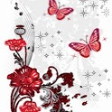 Red Butterflies Glittering icon