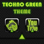 Techno Green Go Launcher Theme
