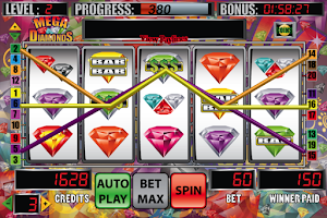 Screenshot of Mega Diamonds Slot Machine