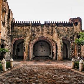 patio de iglesia by Nallely Martinez - Buildings & Architecture Public & Historical ( church, iglesia, mexican, patio, public )