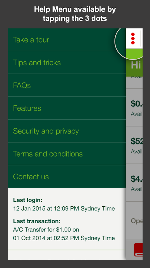 St.George Mobile Banking - screenshot