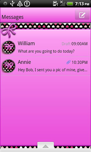 GO SMS THEME VeryGirly1