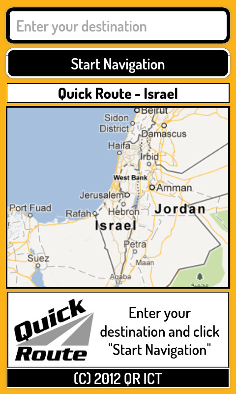 Quick Route Israel- screenshot