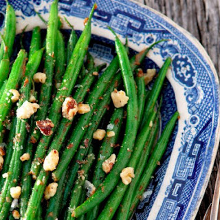 French Green Beans With Walnut Miso Butter.
