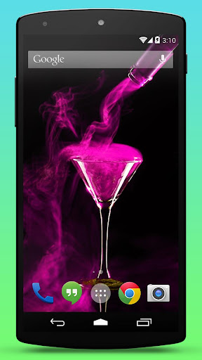 Pink Cocktail Live Wallpaper