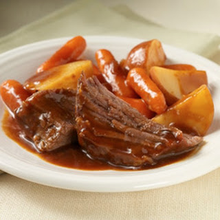 Easy Slow Cooker Pot Roast.