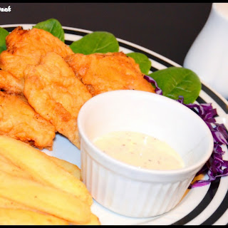 Homemade Beer Battered Fish and chips.