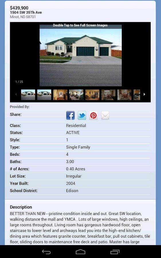 Minot Homes- screenshot