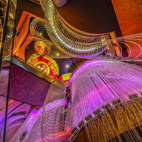 Vegas Lights by Lance Emerson - Buildings & Architecture Other Interior ( lights, interior, hotel, vegas, colorful, mood factory, vibrant, happiness, January, moods, emotions, inspiration )
