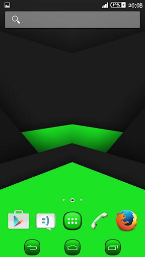 eXPERIAnce Theme Black Green