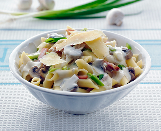 Creamy Bacon and Mushroom Pasta Recipe