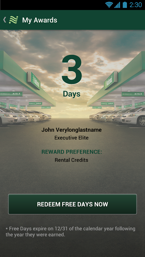 National Car Rental - screenshot
