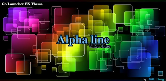 AlphaLine ISCBlue GO Launcher apk v1.0