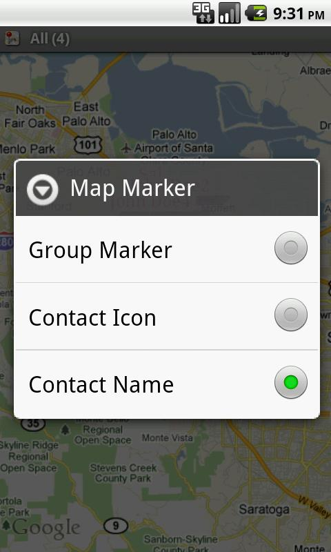 Contact Map - screenshot
