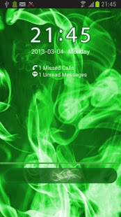 GO Locker Green Smoke Theme - screenshot thumbnail