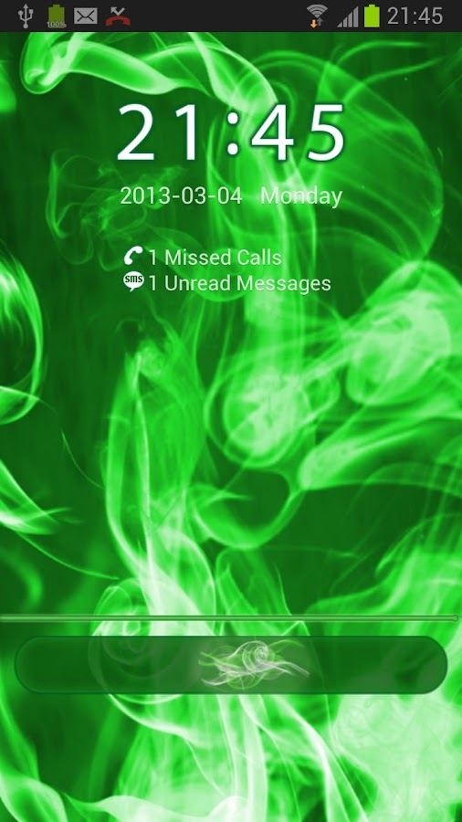 GO Locker Green Smoke Theme - screenshot