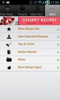 Screenshot of Dessert Recipes!
