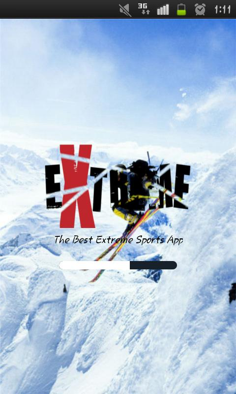 Extreme Sports fan app - screenshot