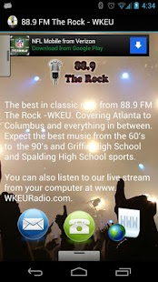 88.9 FM The Rock - WKEU - screenshot thumbnail